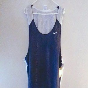 NIKE MENS BLUE AND WHITE REVERSIBLE JERSEY 3XL